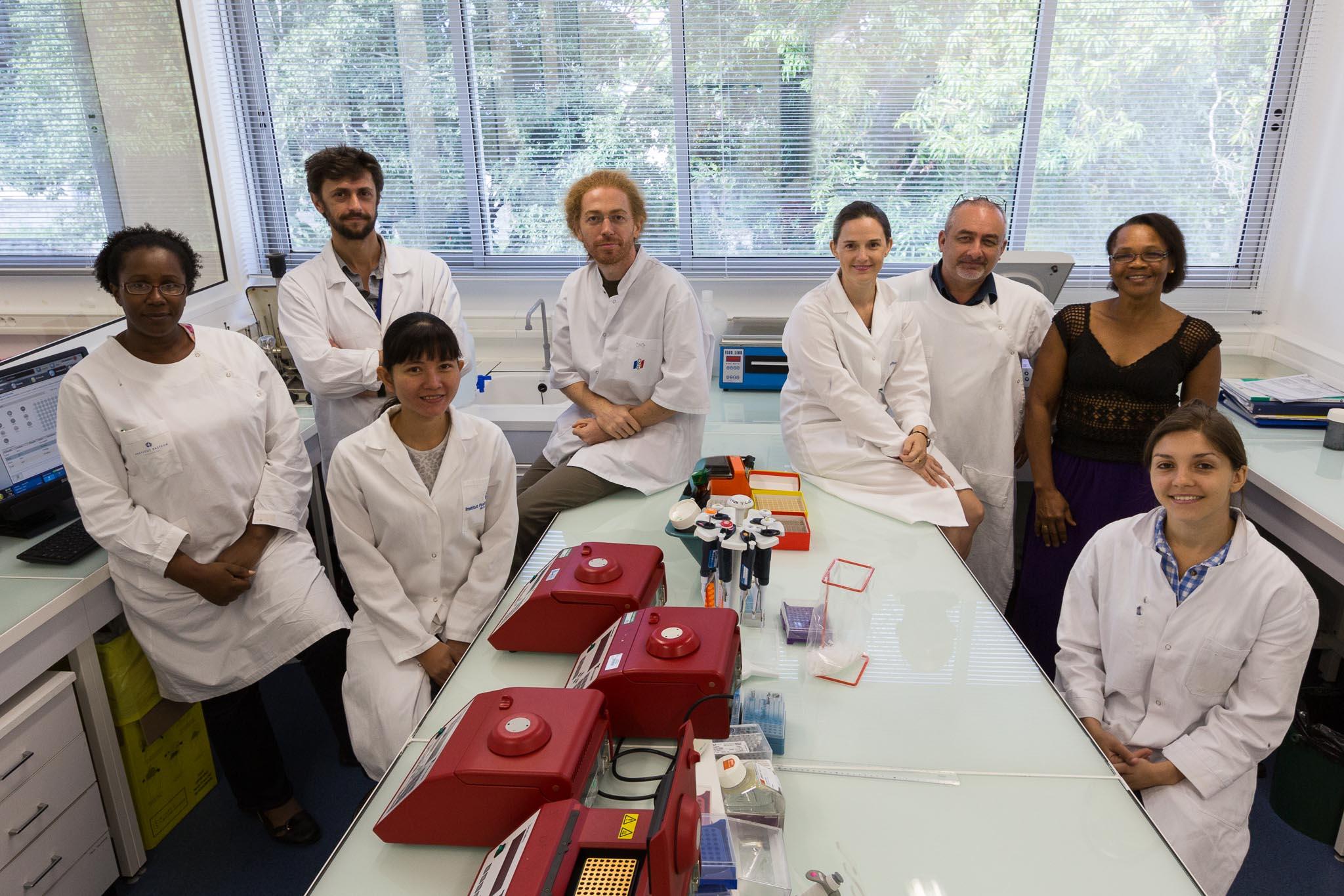 L'équipe de parasitologie