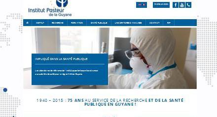 Nouveau site Internet pour l'Institut Pasteur de la Guyane