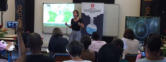 Camille Fritzell remporte la finale régionale du concours «Ma thèse en 180 secondes»