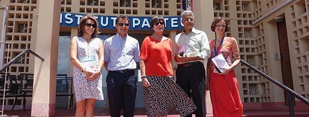 Une délégation sénatoriale en visite à l'Institut Pasteur de la Guyane